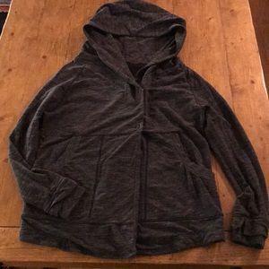 Lululemon gray hooded sweatshirt large